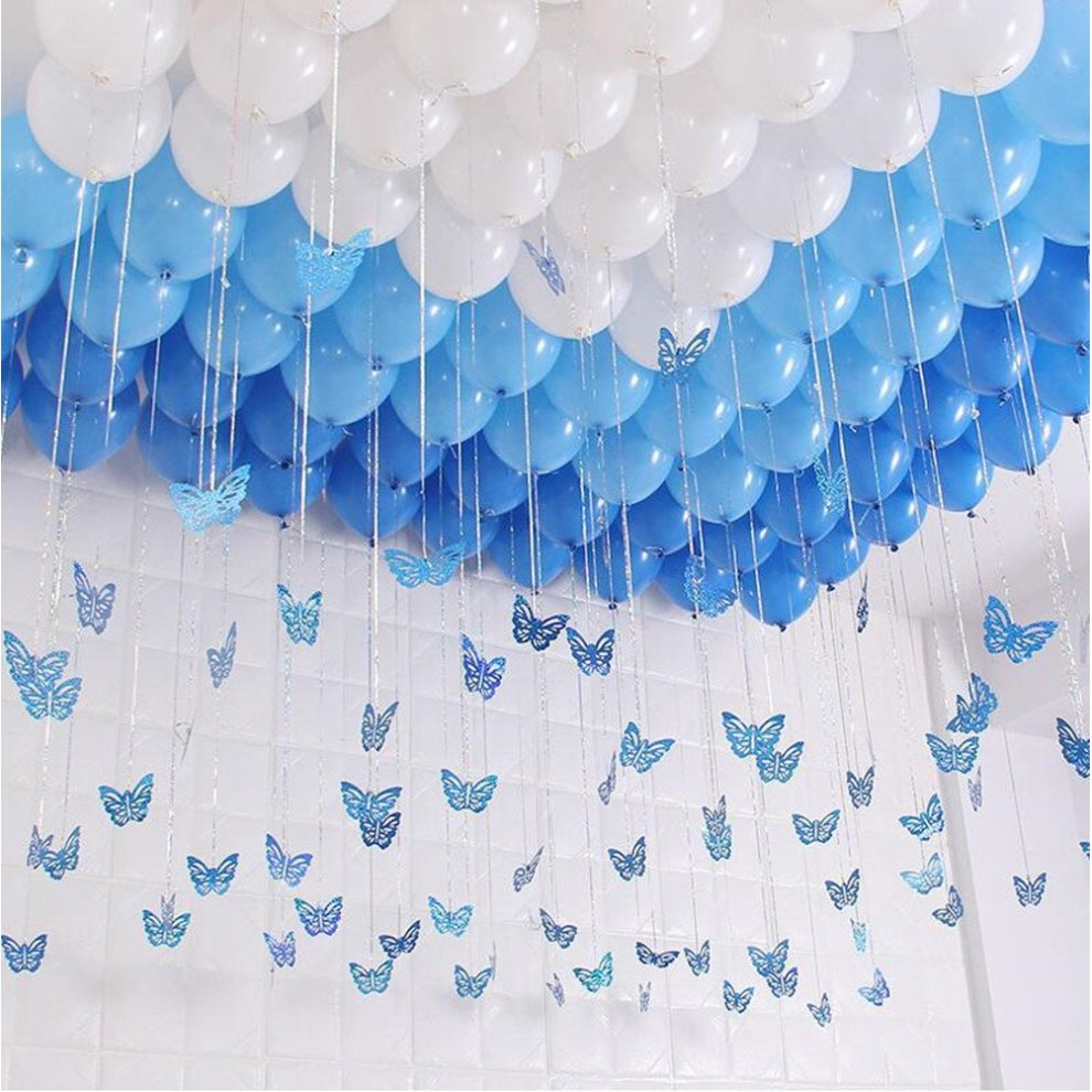 Turquoise And White Birthday Decorations  from assets.onbuy.com