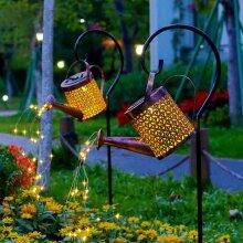 Solar Watering Can Light Firefly Bunch Lights Waterproof Waterfall String Lights Outdoor Decor
