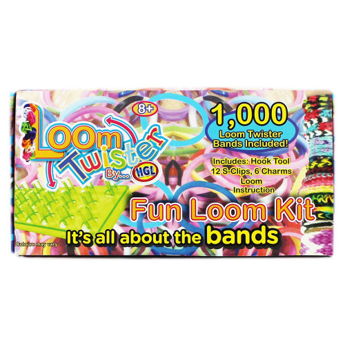 Loom Twister Bands Fun Loom Kit - 1000 Bands