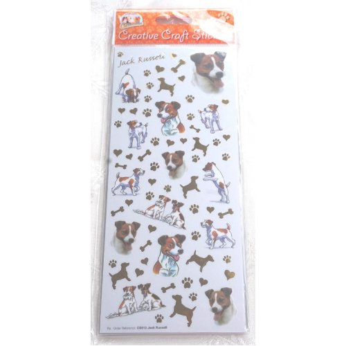 Jack Russell craft stickers