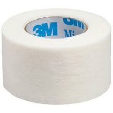 3M Micropore Surgical Tape, Hypoallergenic, White, 2.5cm x 9.1m, Pack of 6