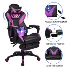 ELECWISH Gaming Chair PU Leather Massage Ofiice Chairs Large