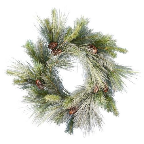 Vickerman D182130 30 in. Frosted Myers Pine Wreath - Pack of 6