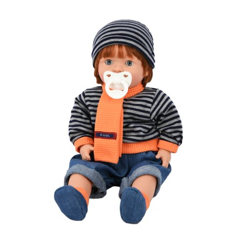 """(Boy) The Magic Toy Shop 18"""" Realistic Sleeping Ginger Dolls with Dummy & Sounds"""