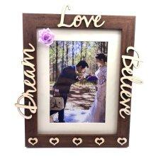 Romantic Wooden Photo Frame Dream Believe