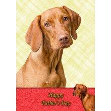 "Vizsla Father's Day Greeting Card 8""x5.5"""