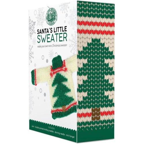 Lion Brand 85-CR3 Tree Yarn Santas Sweaters