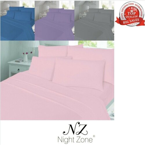 Flannelette Thermal Soft Brushed Cotton Flat Sheet