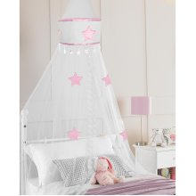 Country Club Bed Canopy, Star White
