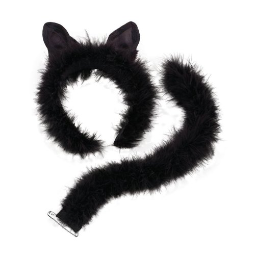 FLUFFY PIGS SET EAR HEADBAND NOSE TAIL Childrens Size fancy dress accessory
