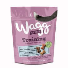 Wagg Training Treats for Dogs with Chicken, Beef and Lamb 125g, Pack of 4