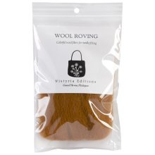 """Wistyria Editions Wool Roving 12"""" .22oz-Toffee"""