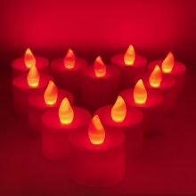 LED Flickering Tea Lights, Table Display, Flame Free, Event, Halloween, Christmas Lighting