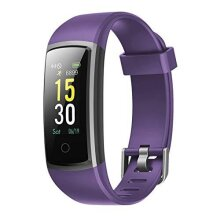 AQUARIUS AQ 126 Fitness Tracker With Heart Rate & Blood Pressure Monitor (Purple)