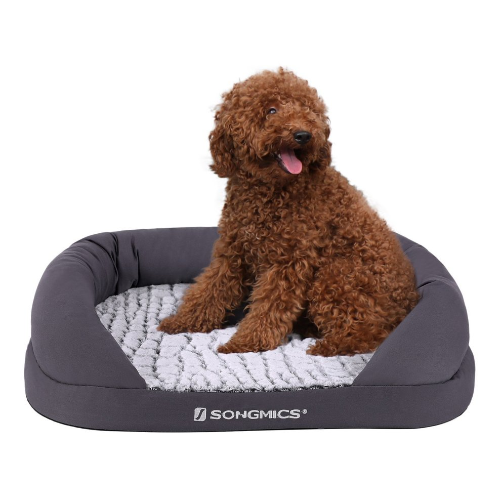SONGMICS Dog Bed Removable, Washable, Egg Crate Foam, Made