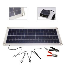 30W 12V Dual USB Flexible Solar Panel Battery Charger Kit Boat Car & Controller~