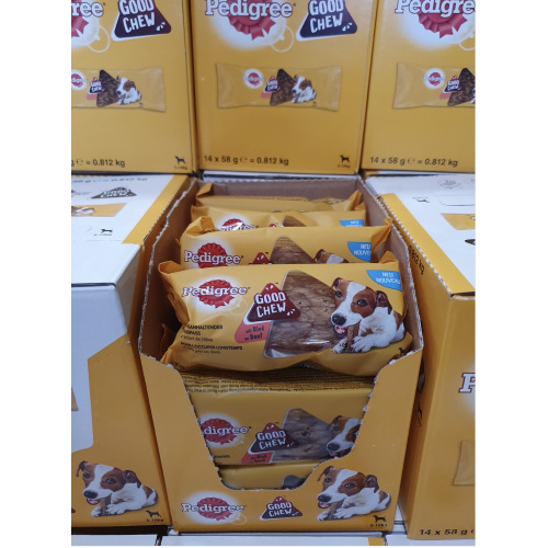 Pedigree Good Chew Dog Chew 58g With Beef 2 Boxes Of 14  21.05.2020