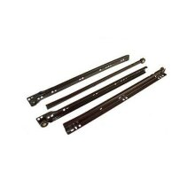 Metal roller bottom fix drawer runners - brown