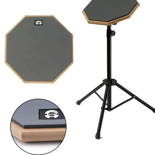 "8"" Black Dumb Drum Pad Exercise Mat Blow Plate Drummer Double Side"