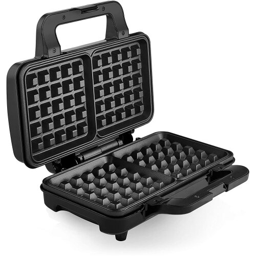 Tower T27025 Waffle Maker, Large Waffle Moulds, Auto Temp, 1000W,Black