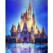 Castle 5D Diamond Painting Cross Stitch Embroidery DIY Art Home Decor Hanging