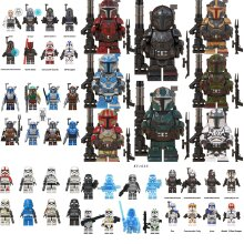 Mandalorian Star wars Minifigures Compatible with Lego Children assemble toy Stormtroopers Captain Fasma blocks