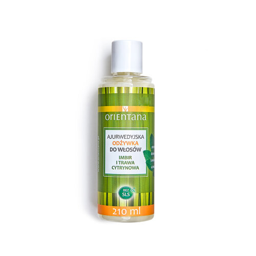 Orientana - GINGER & LEMONGRASS AYURVEDIC HAIR CONDITIONER - 99% Natural & Vegan - silicone-free - gives beautiful shine & softens hair, 210ml