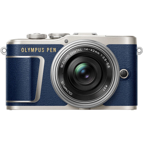 OLYMPUS E-PL9 Blue KIT 14-42mm F3.5-5.6 EZ ED Silver