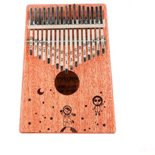 (Starry sky) 17 Key Kalimba Thumb Piano Toy Wooden Walnut Musical Instrument