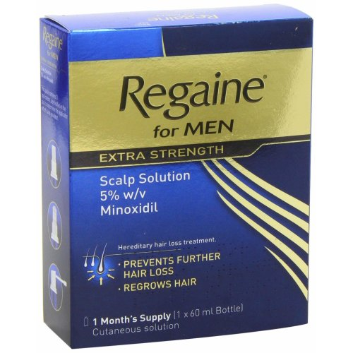 Regaine Men Extra Strength Scalp Solution 5% Minoxidil 1 Month Supply