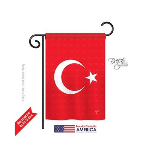 Breeze Decor 58194 Turkey 2-Sided Impression Garden Flag - 13 x 18.5 in.
