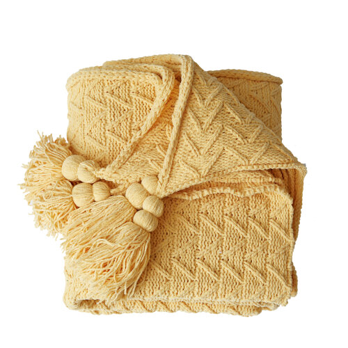 Solid Color Knitted Throws with Fringe Chenille Cozy Throw Blanket Decorative Throws