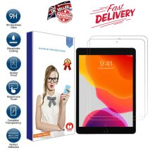 (2 Pack) Ultra Clear 9H Tempered Glass Anti Shatter HD Screen Protector for Apple iPad 10.2 8th Generation (2020)/ 7th (2019) Bubble-Free Anti-Scratch
