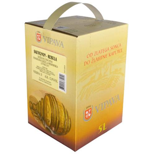 Vipava 1894 White Wine 4 x Bag in Box 5 liter, Sauvignon/Rebula