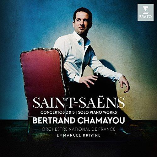 Bertrand Chamayou - Saint-Saëns: Piano Concertos Nos. 2 and 5, pieces for solo piano [CD]