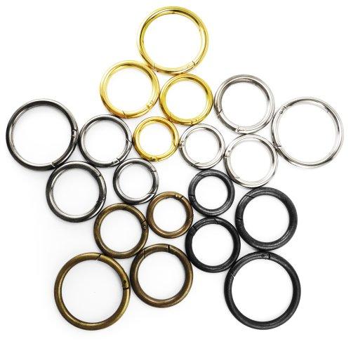 Round Push Gate Snap Open Hooks Ring Key Carabiner