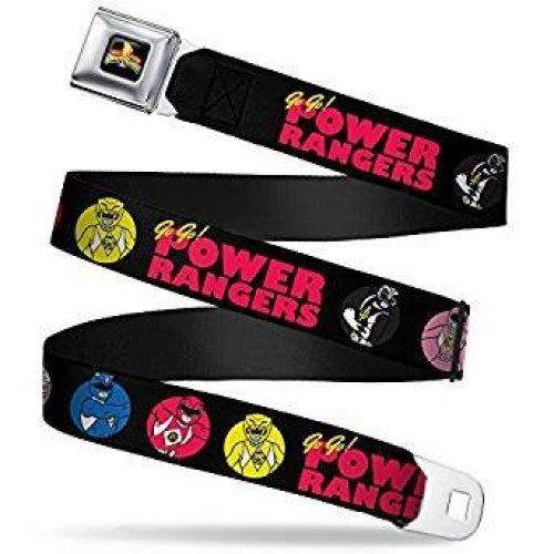 Seatbelt Belt - Power Rangers - V.9 Adj 24-38' Mesh New pra-wpr036