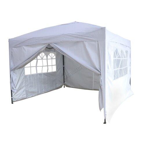 (White) Birchtree Waterproof Pop Up Gazebo | Garden Party Tent - 3 x 3m