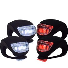 VeloChampion 4 pack LED Quick Fix Front & Rear Bike Silicone Light Set