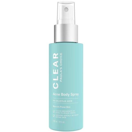 Paula's Choice CLEAR Back and Body Acne Spray, 2% Salicylic Acid Treatment for Blackheads & Blemishes, 4 Ounce