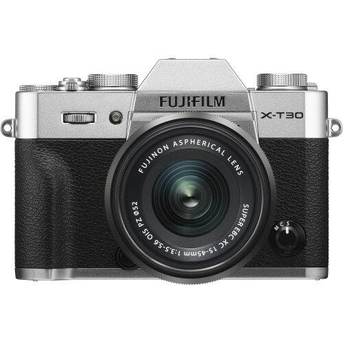 FUJIFILM X-T30 Mirrorless Digital Camera with 15-45mm Lens (Silver)