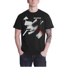 David Bowie T Shirt X Smoking portrait Red new Official Mens Black
