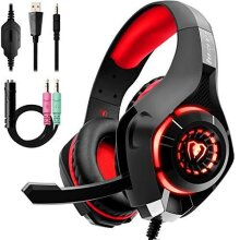 Gaming Headset for PS4, Beexcellent Comfort Noise Reduction Crystal Clarity 3.5mm LED Professional Headphone with Mic for Xbox One PC Laptop Tablet