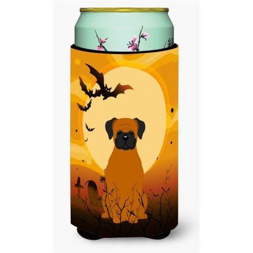 Halloween Fawn Boxer Tall Boy Beverage Insulator Hugger