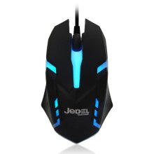 Jedel M66 Wired Optical Gaming Mouse 1000 Dpi Usb Black 7 Led M66