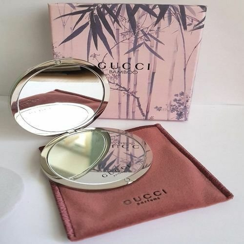 Gucci Bamboo Compact Mirror With Pouch Bag
