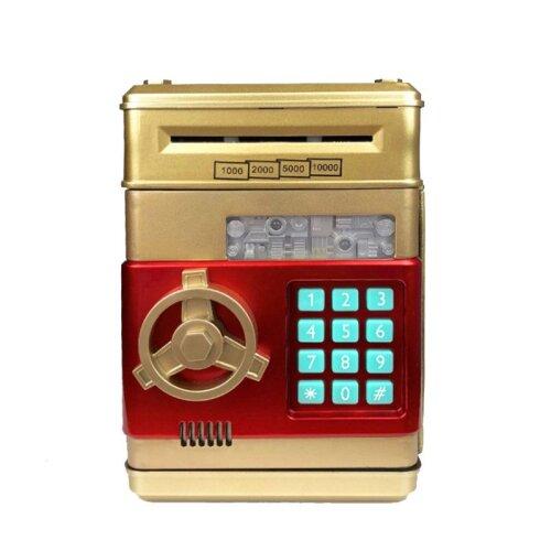 (Gold) Electronic Piggy Bank Password Safe Money Saving Box Kids