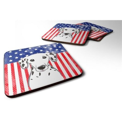 American Flag & Dalmatian Foam Coaster, Set of 4