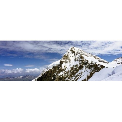 Summit of Monch Mountain In Bernese Alps Poster Print, 44 x 15 - Large