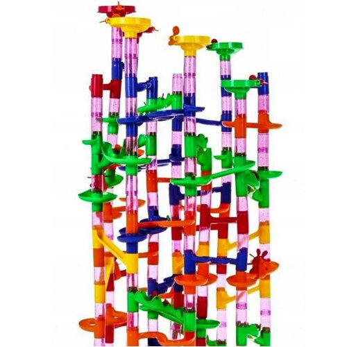 The Magic Toy Shop 219pcs Marble Run Race Set - 159 Pieces & 60 Marbles